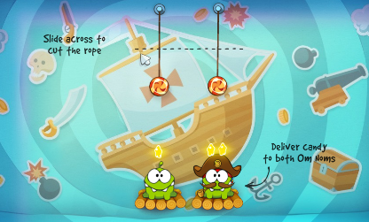 Play free online game Cut the Rope: Time Travel Online