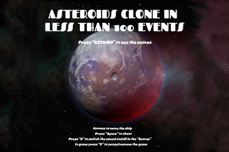 Play free online game Asteroid in less than 100 events