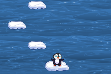 Play free online game Penguin Skip - jumping online game