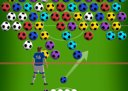 Play free online game Soccer Bubbles